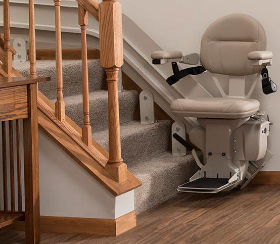 Fontana stairlift chair curve custom curved stairway staircase ... & Stair Lifts Fontana StairLift