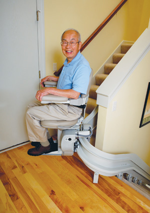VICTORVILLE STAIR LIFTS CRE-2110 curve stairlift los angeles ca Electra-Ride III