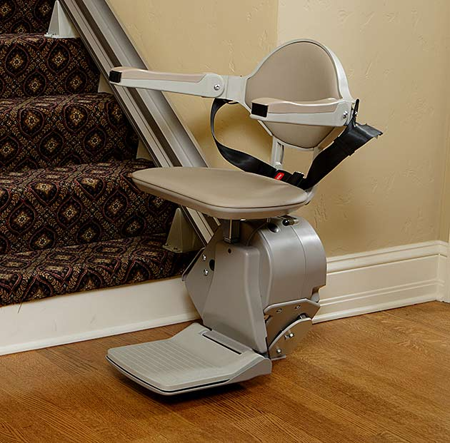 Fullerton stairlift chair curve custom curved stairway staircase