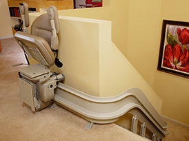 Santa Ana stairlift chair curve indoor public use