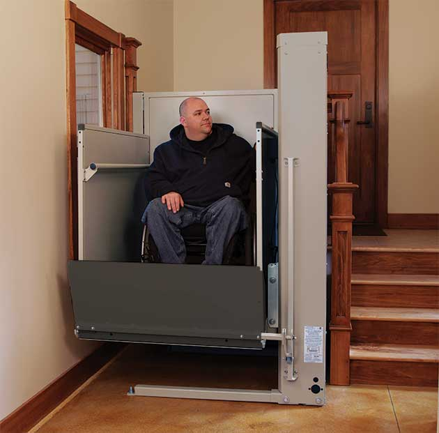 city wheelchair elevator vertical platform vpl pl50 porchlift