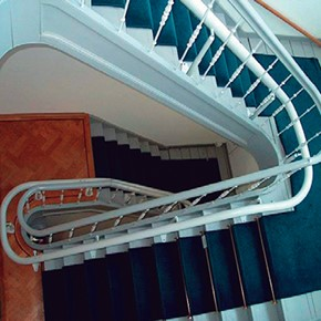 Santa Ana custom curved stairway staircase are best sale price in city for stairchair