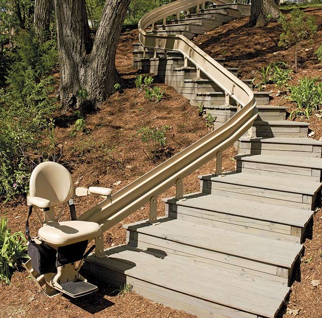 CURVE STAIRLIFT temecula stairlift chair curve outdoor